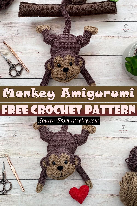 Free Crochet Monkey Amigurumi Pattern
