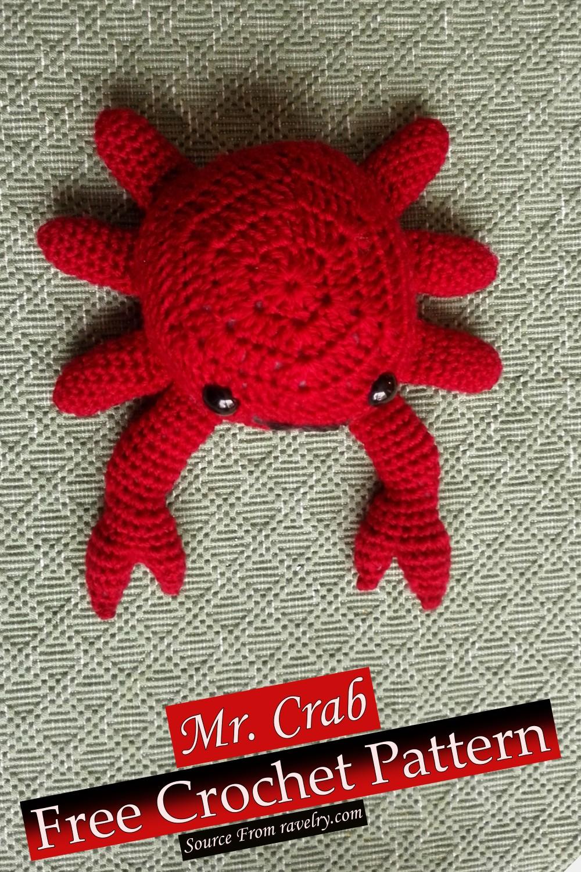 Free Crochet Mr. Crab Pattern