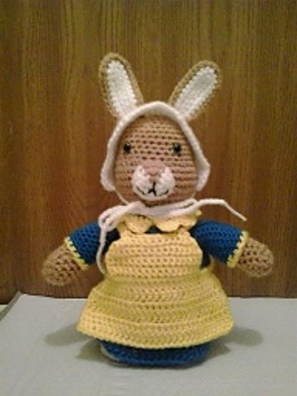 Free Crochet Mrs Rabbit Pattern