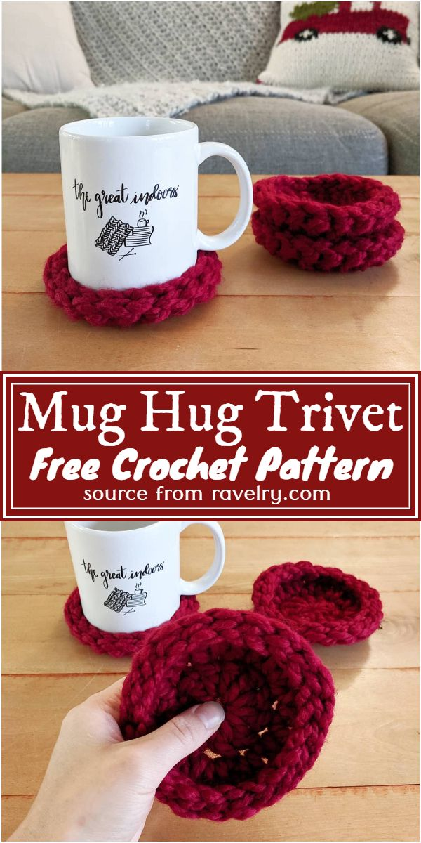 Free Crochet Mug Hug Trivet Pattern