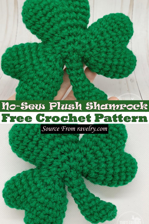 Free Crochet No-Sew Plush Shamrock Pattern