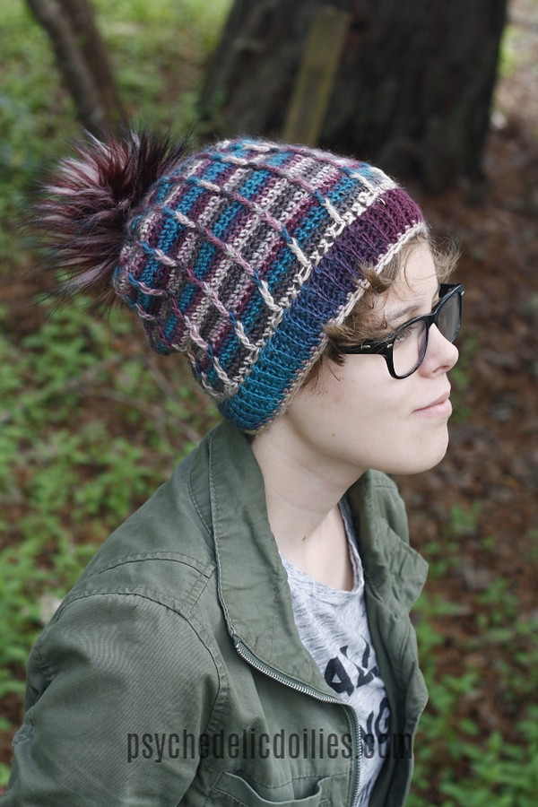 Free Crochet Perpetual Posts Slouchy Hat Pattern