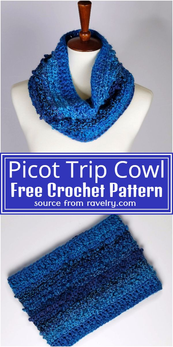 Free Crochet Picot Trip Cowl Pattern