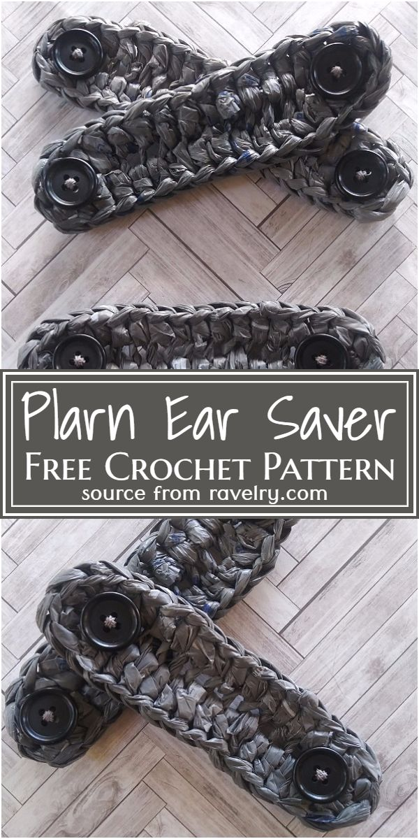 Free Crochet Plarn Ear Saver Pattern