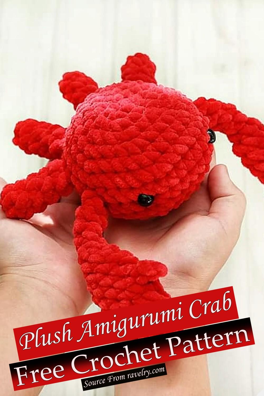 Free Crochet Plush Amigurumi Crab Pattern