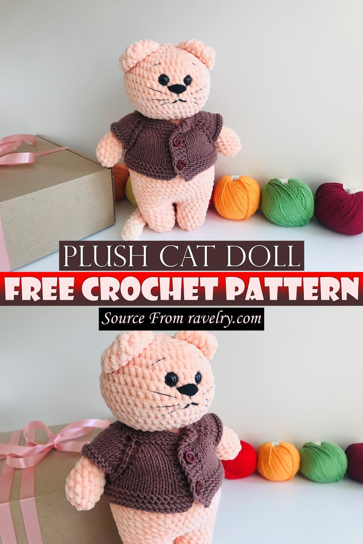 Free Crochet Plush Cat Doll Pattern
