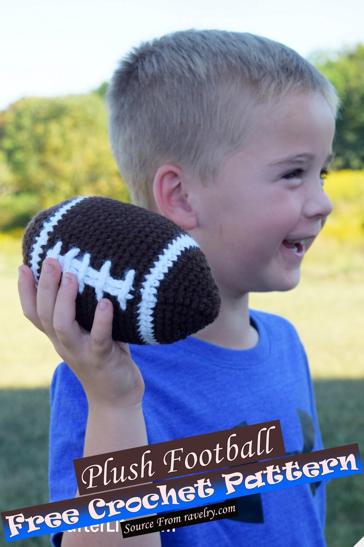 Free Crochet Plush Football Pattern