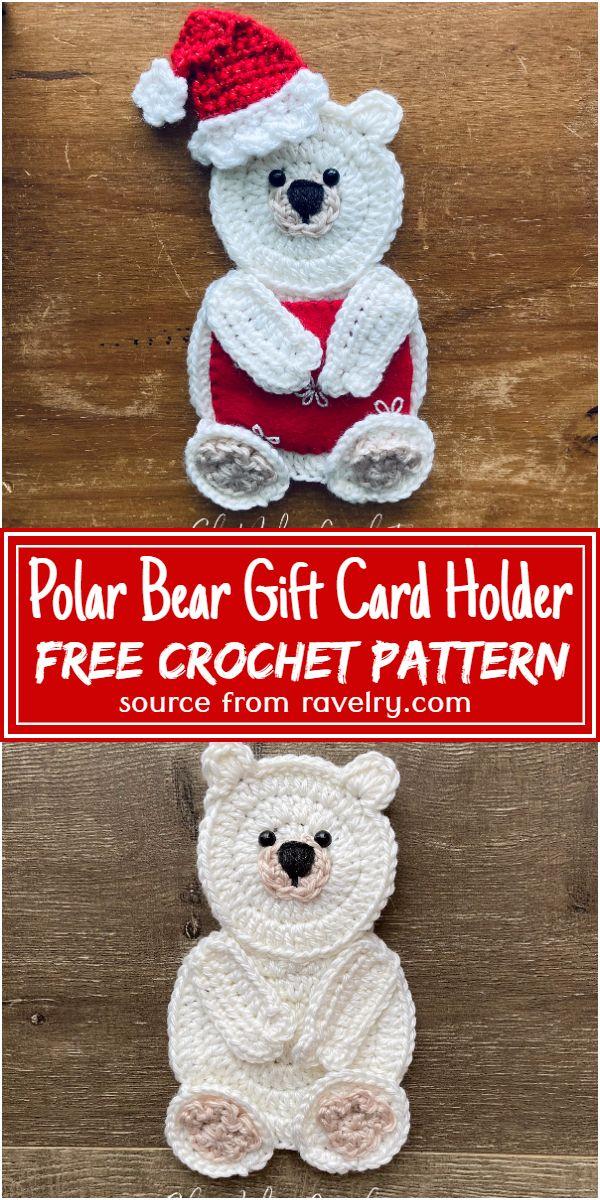 Free Crochet Polar Bear Gift Card Holder Pattern