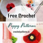 Lovely And Quick To Make Free Crochet Poppy Patterns
