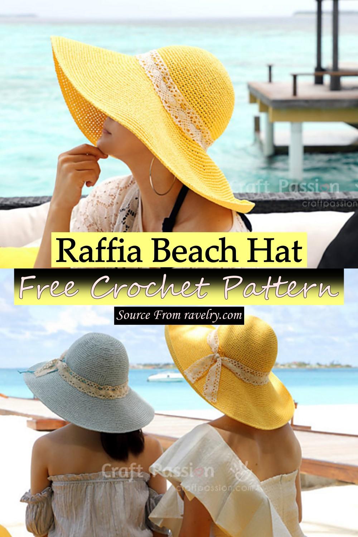 Free Crochet Raffia Beach Hat Pattern