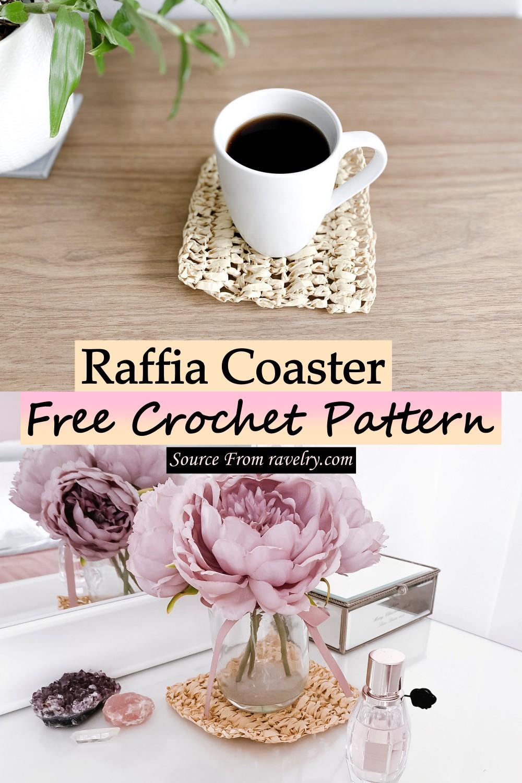 Free Crochet Raffia Coaster Pattern