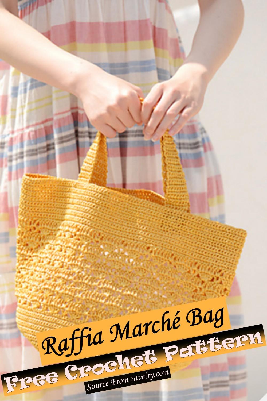 Free Crochet Raffia Marché Bag Pattern