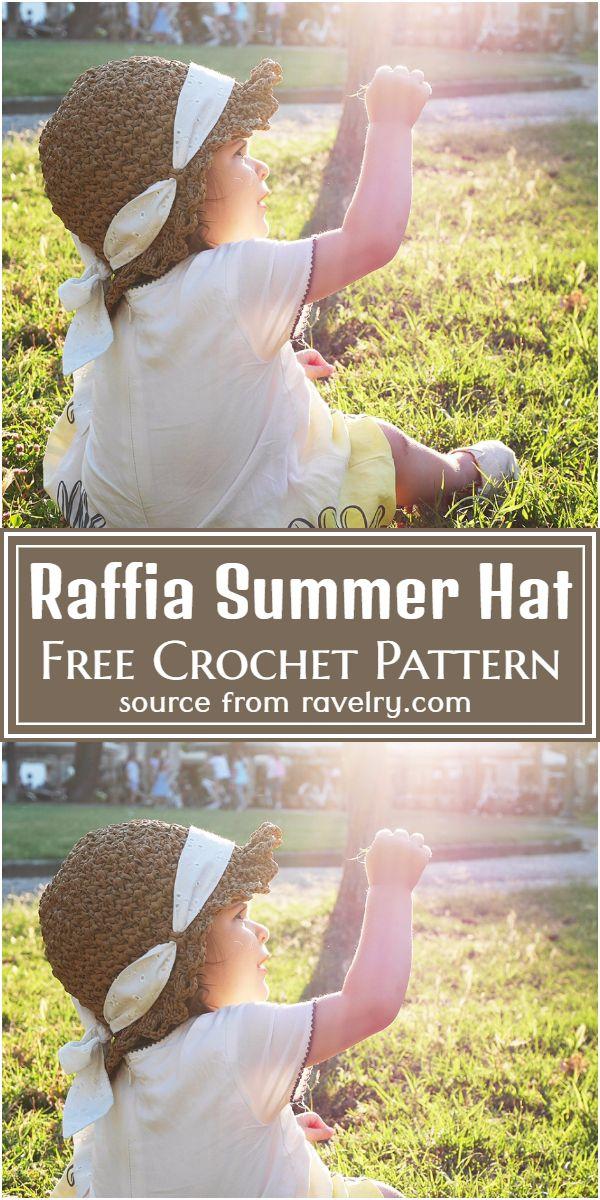 Free Crochet Raffia Summer Hat Pattern