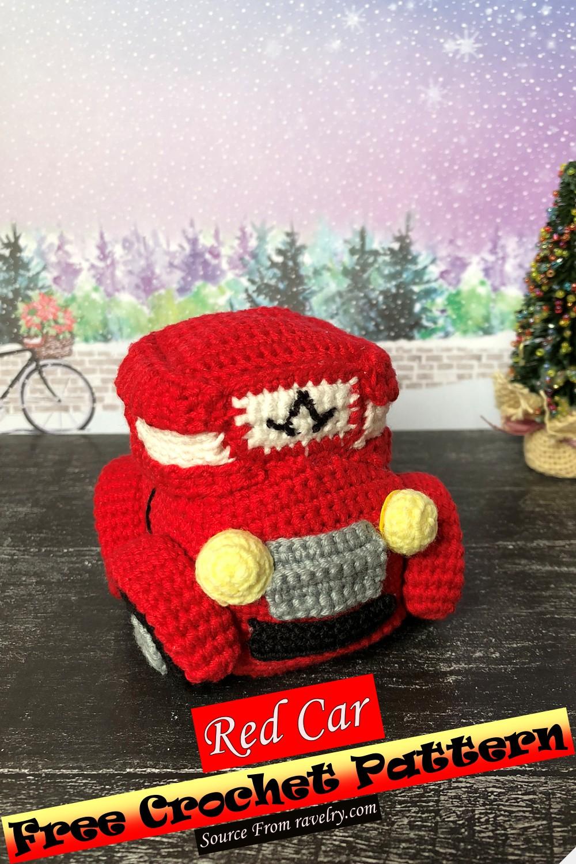Free Crochet Red Car Pattern