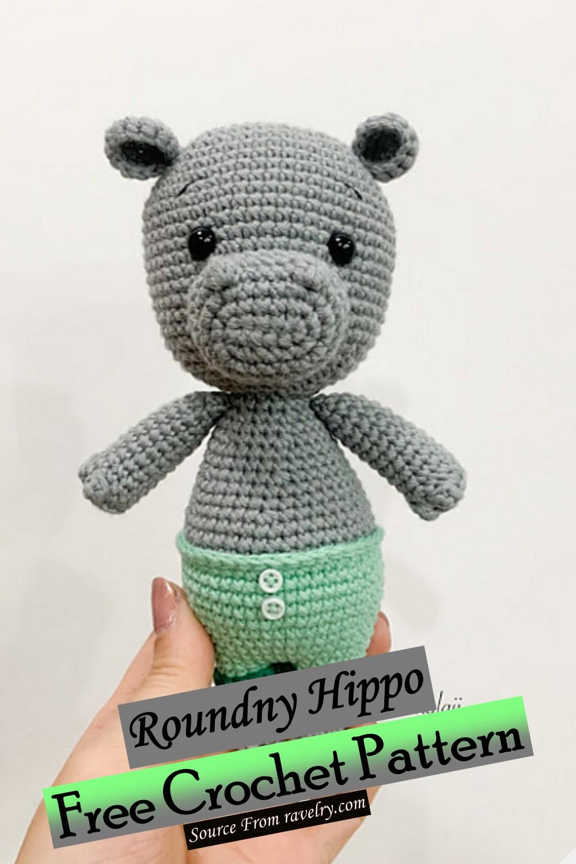 Free Crochet Roundny Hippo Pattern