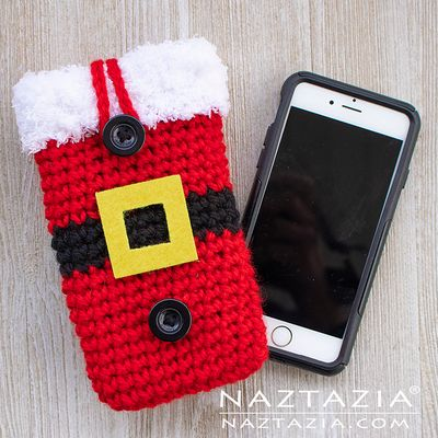 Free Crochet Santa Cell Phone Case Pattern