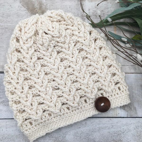 Free Crochet Sheridan Ridge Slouchy Hat Pattern