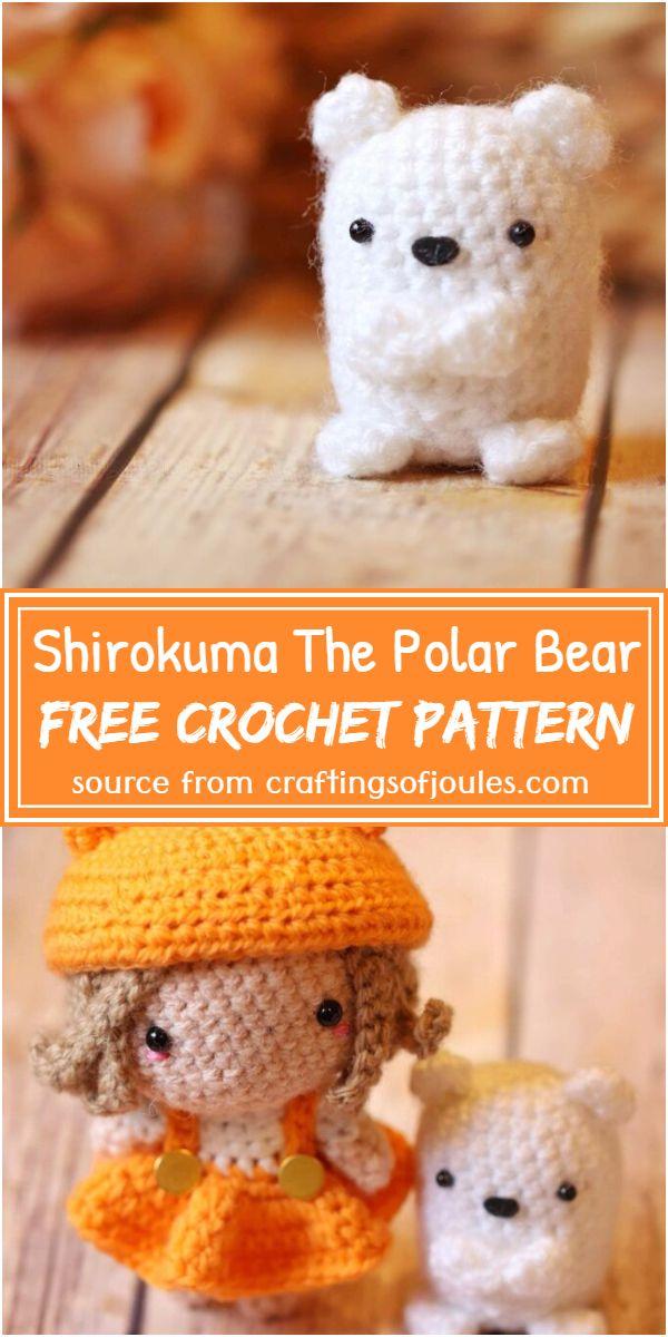 Free Crochet Shirokuma The Polar Bear Pattern