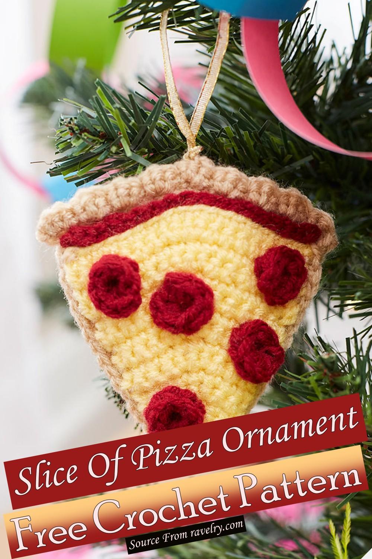 Free Crochet Slice Of Pizza Ornament Pattern