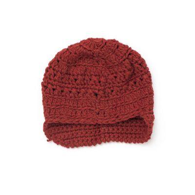 Free Crochet Slouchy Peaked Hat Pattern