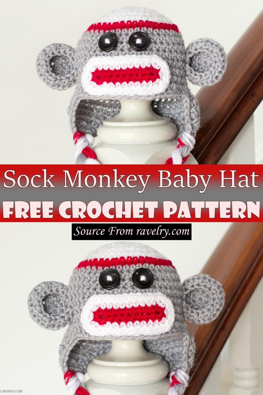 Free Crochet Sock Monkey Baby Hat Pattern