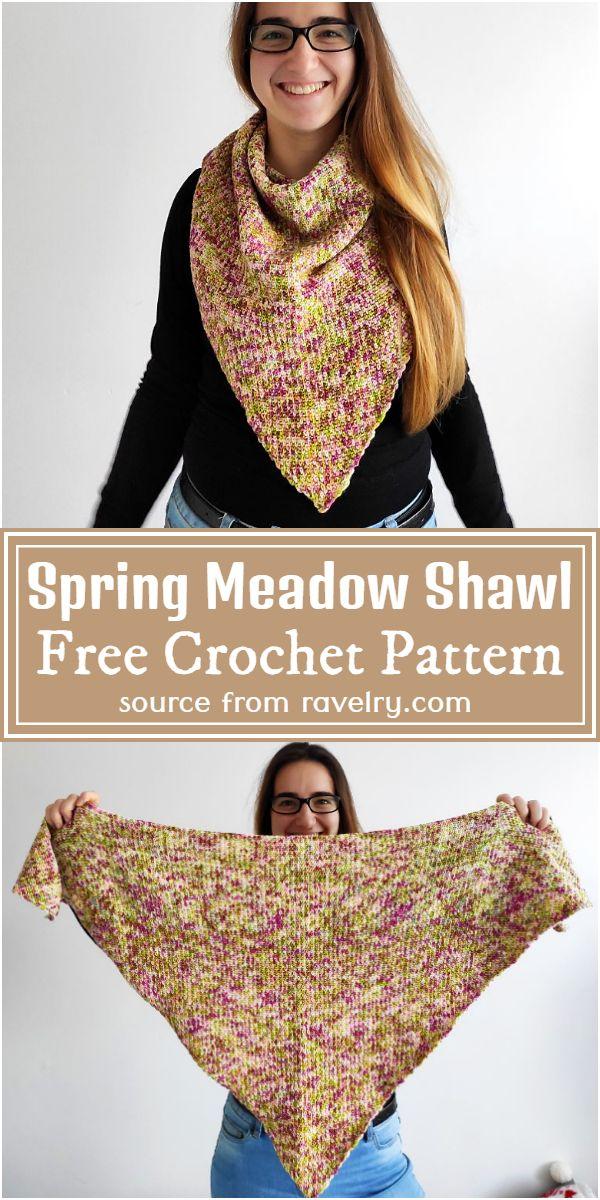 Free Crochet Spring Meadow Shawl Pattern