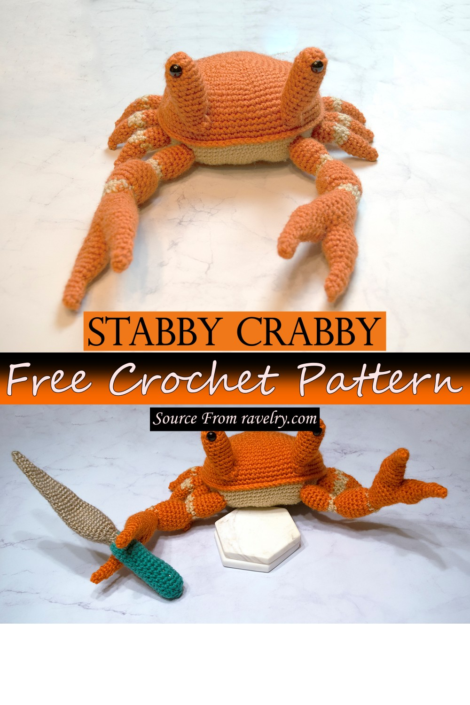 Free Crochet Stabby Crabby Pattern