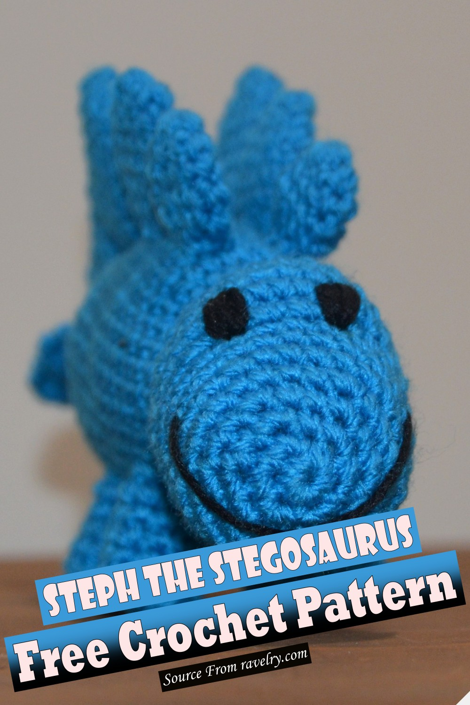 Free Crochet Steph The Stegosaurus Pattern