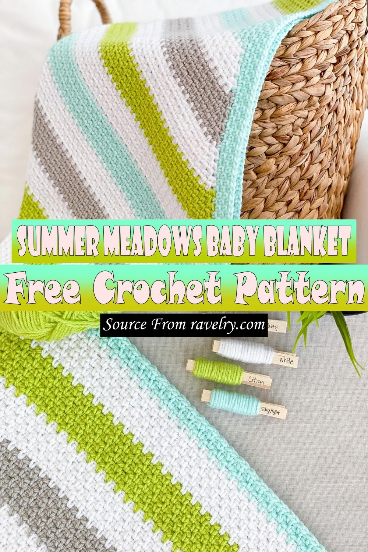 Free Crochet Summer Meadows Baby Blanket Pattern