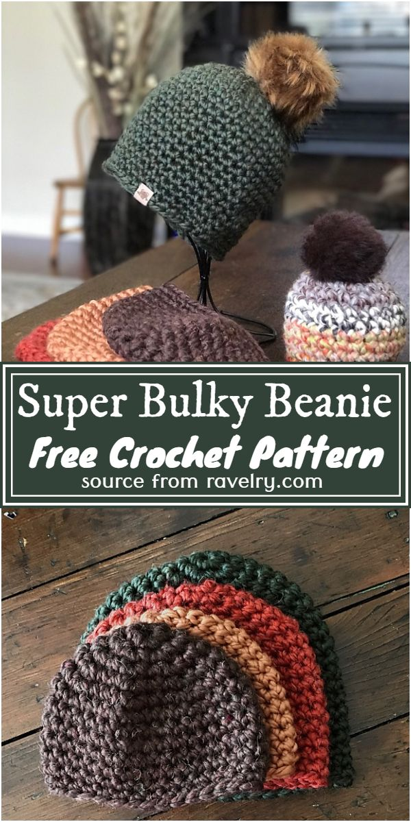 Free Crochet Super Bulky Beanie Pattern