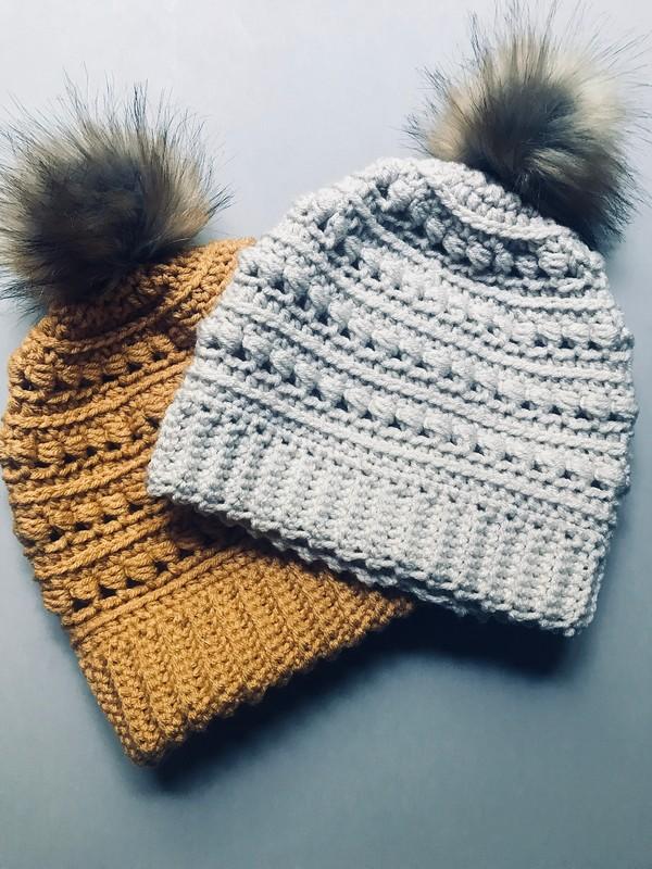 Free Crochet The Chasing Rabbits Beanie Pattern