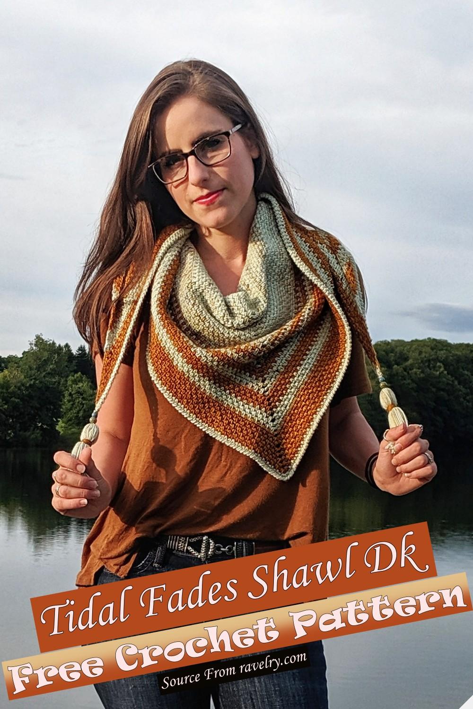Free Crochet Tidal Fades Shawl Dk Pattern