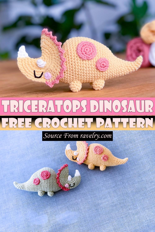 Free Crochet Triceratops Dinosaur Pattern