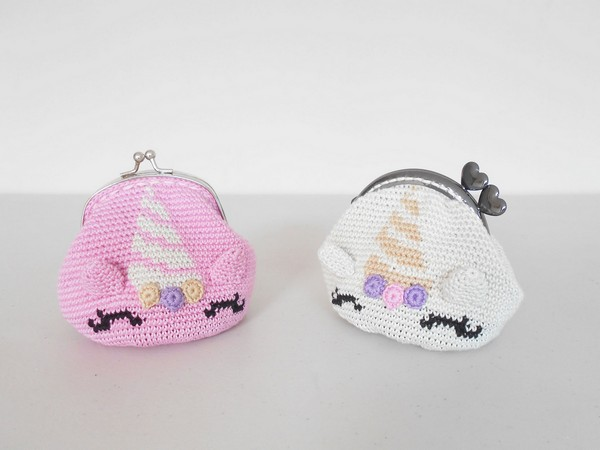 Free Crochet Unicorn Coin Purse Pattern