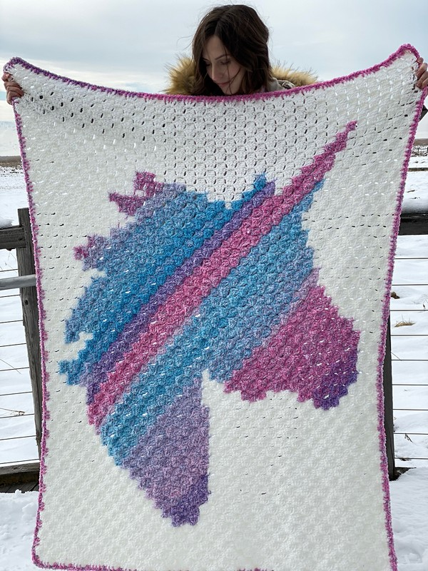 Free Crochet Unicorn Dreams Afghan Pattern