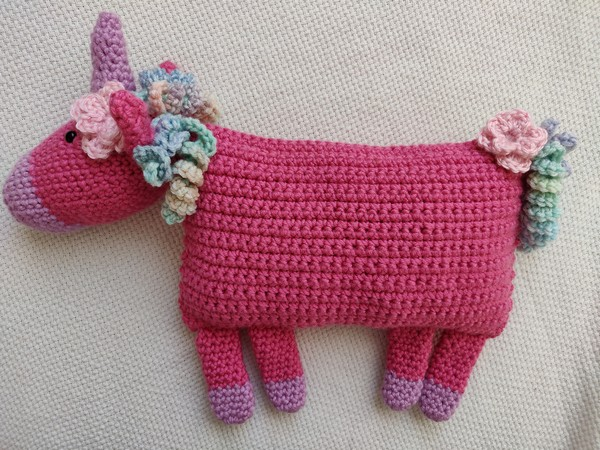 Free Crochet Unicorn Pillow Pattern