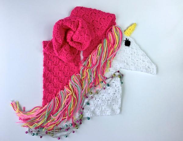 Free Crochet Unicorn Scarf C2c Pattern