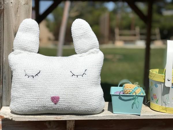 Free Crochet Velveteen Rabbit Pillow Pattern