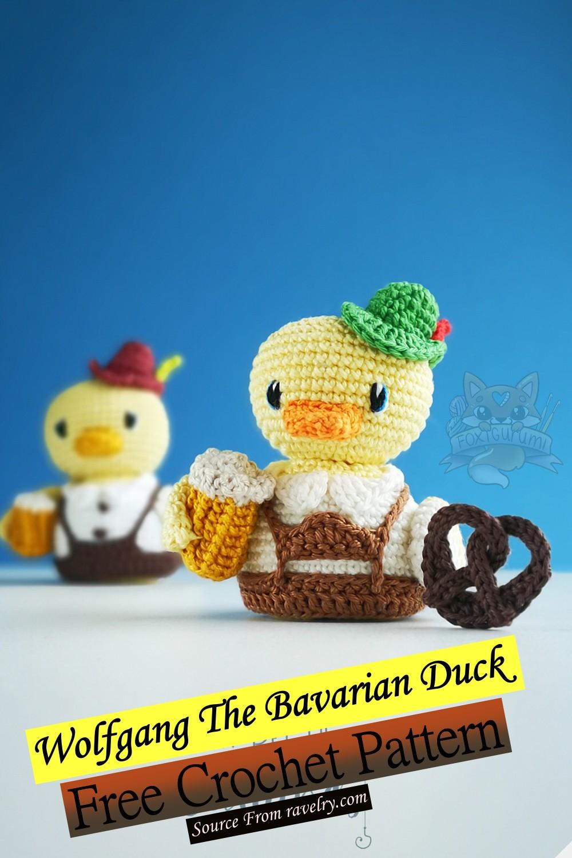 Free Crochet Wolfgang The Bavarian Duck Pattern