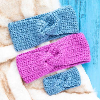 Free Easy Twisted Crochet Ear Warmer Pattern