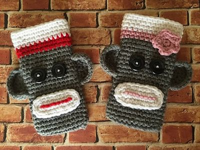 Free Sock Monkey Crochet Phone Case Pattern