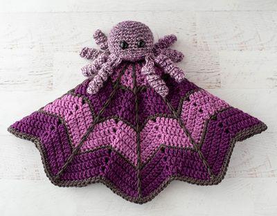 Free Spider On A Web Crochet Lovey Pattern