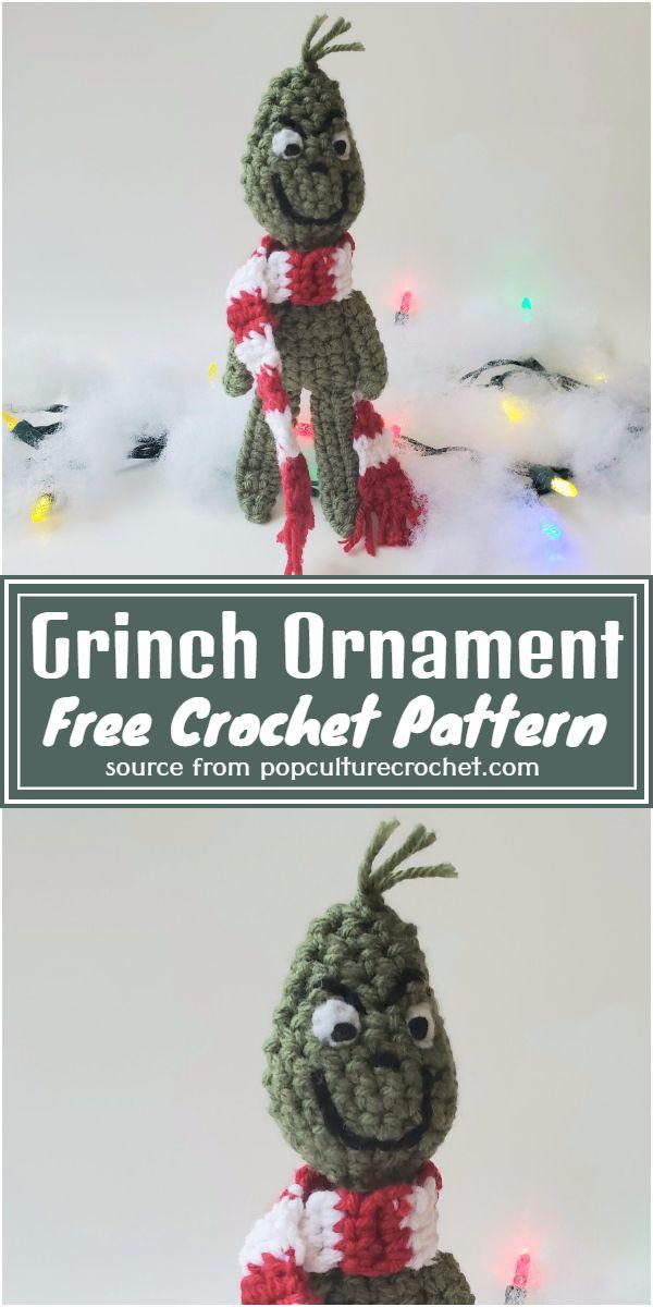 Grinch Amigurumi Crochet Pattern