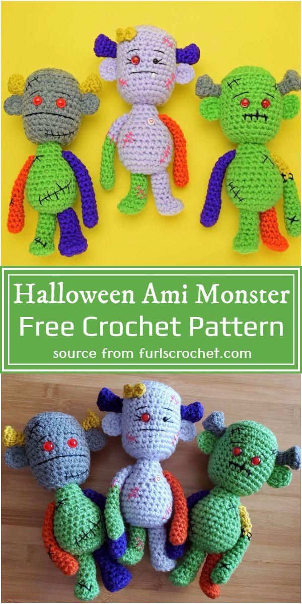 Halloween Ami Monster Crochet Pattern