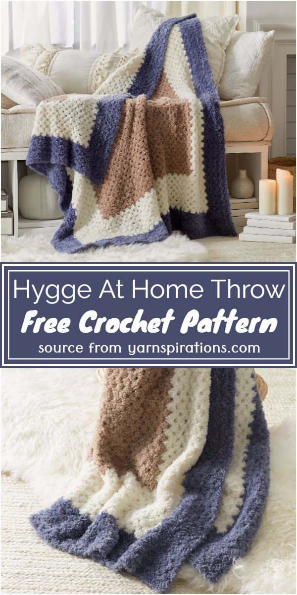 Hygge At Home Throw Crochet Pattern
