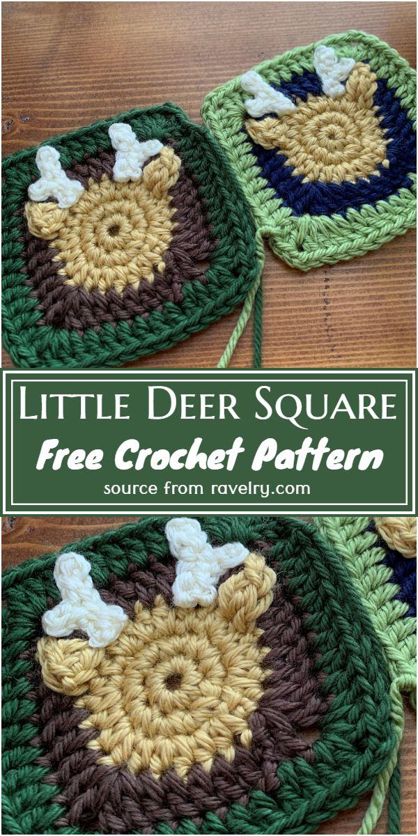 Little Crochet Deer Square Pattern