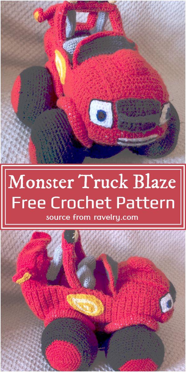 Monster Truck Blaze Crochet Pattern