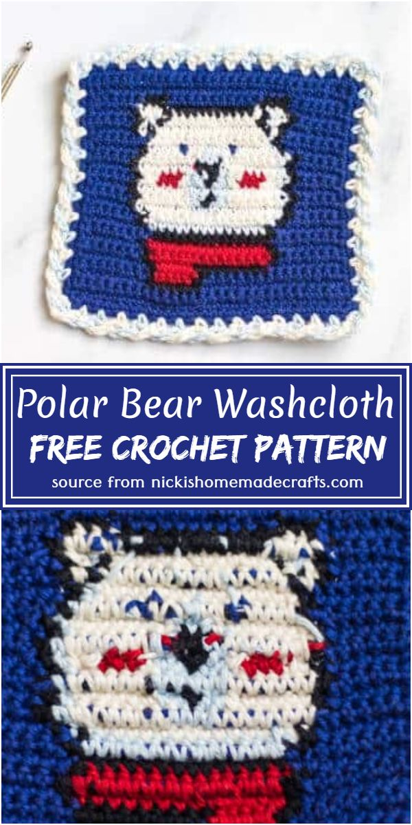 Bear Washcloth Pattern