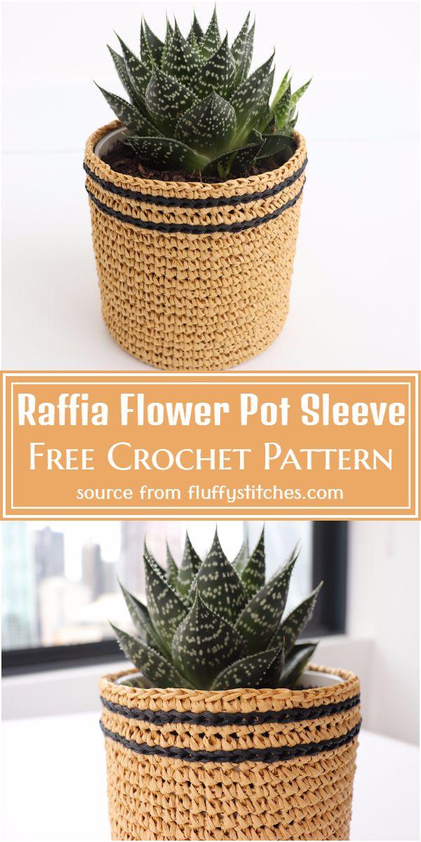 Flower Pot Sleeve Pattern