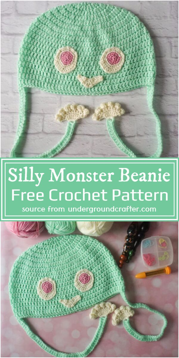 Silly Monster Beanie Crochet Pattern